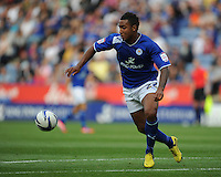 Leicester City's Liam Moore ..Football - npower Football League Championship - Leicester City v Blackpool - Saturday 1st September 2012 - King Power Stadium - Leicester..