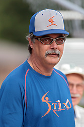 27 June 2014:  Brian Martie during a Mens Professional Fastpitch Softball game between the Central Illinois Knights from Villa Grove and the Bloomington Stix from Bloomington, played at O'Neil Park in Bloomington, Illinois