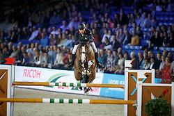 Clee Joe, (GBR), Justin van de Zandhoeve <br /> Zangersheide Young Stallions 6 years of age<br /> Vlaanderen Kerstjumping - Memorial Eric Wauters - <br /> Mechelen 2015<br /> © Hippo Foto - Dirk Caremans<br /> 27/12/15