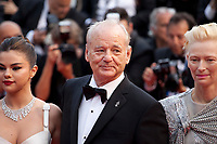 Selena Gomez, Actor Bill Murray and Actress Tilda Swinton at the Opening Ceremony and The Dead Don't Die gala screening at the 72nd Cannes Film Festival Tuesday 14th May 2019, Cannes, France. Photo credit: Doreen Kennedy