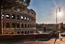 Tourists at Colosseum, Rome, Italy