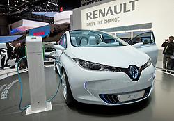 Renault Zoe plug-in electric car at the Geneva Motor Show 2011 Switzerland