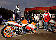 Drag racer and engine builder Tommy Bolton and his friends in Oklahoma City