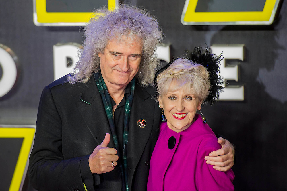 Brian May and Anita Dobson - The European Premiere of STAR WARS: THE FORCE AWAKENS - Odeon, Empire and Vue Cinemas, Leicester Square, London.