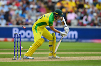 Cricket - 2019 ICC Cricket World Cup - Semi-Final: England vs. Australia<br /> <br /> Australia's Jason Behrendorff  clean bowled by England's Mark Wood, at Edgbaston, Birmingham.<br /> <br /> COLORSPORT/ASHLEY WESTERN
