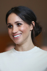 Meghan Markle during a visit to Catalyst Inc science park in Belfast where she and Prince Harry met some of Northern Ireland's brightest young entrepreneurs.