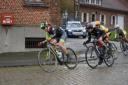 Sheyla Gutierrez (Cylance) on her way to victory at the 112.8 km Le Samyn des Dames on March 1st 2017, from Quaregnon to Dour, Belgium. (Photo by Sean Robinson/Velofocus)