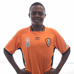 BRISBANE, AUSTRALIA - MARCH 17: Edrick Yalankunze poses for a photo during the Brisbane Roar Youth headshot session at QUT Kelvin Grove on March 17, 2017 in Brisbane, Australia. (Photo by Patrick Kearney/Brisbane Roar)