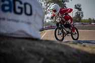 #210 (CHRISTENSEN Simone Tetsche) DEN at Round 10 of the 2019 UCI BMX Supercross World Cup in Santiago del Estero, Argentina