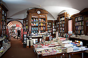 Livraria Bertrand, one of the best bookstores of Lisbon, located at Rua Garrett, in the Chiado district.