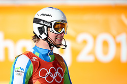 PYEONGCHANG-GUN, SOUTH KOREA - FEBRUARY 13: Klemen Kosi of Slovenia reacts at the finish during the Men's Alpine Combined Slalom on day four of the PyeongChang 2018 Winter Olympic Games at Jeongseon Alpine Centre on February 13, 2018 in Pyeongchang-gun, South Korea. Photo by Kim Jong-man / Sportida