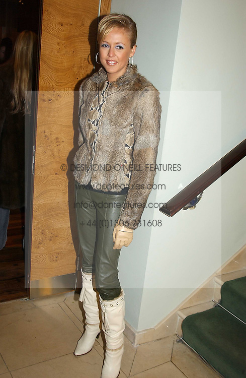 LADY ALEXANDRA SPENCER-CHURCHILL at the opening party of Pengelley's, 164 Sloane Street, London SW1 on 22nd February 2005.<br />