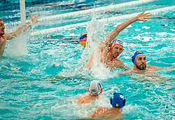 Eelco Wagenaar, Jorn Muller of the Netherlands in action against Romania during the Olympic qualifying tournament. The Dutch water polo players are on the hunt for a starting ticket for the Olympic Games on February 16, 2021 in Rotterdam