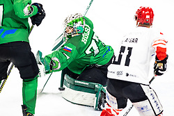 Paavo Holsa of HK SZ Olimpija during ice hockey match between HK SZ Olimpija and HDD SIJ Acroni Jesenice in first game of Final at Slovenian National League, on May 5, 2021 in Hala Tivoli, Ljubljana, Slovenia. Photo by Matic Klansek Velej / Sportida
