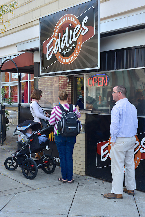Guests at Eddies Famous Cheesesteaks and Grille.