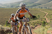 Ariane Kleinhans (front) and Annika Langvad of Team RECM2 during stage 5 of the 2014 Absa Cape Epic Mountain Bike stage race held from The Oak Estate in Greyton to Oak Valley Wine Estate in Elgin, South Africa on the 28 March 2014<br /> <br /> Photo by Greg Beadle/Cape Epic/SPORTZPICS