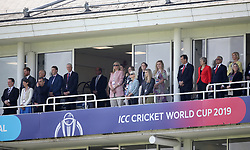 The Duke of Sussex (left) and British Prime Minister Theresa May (right) in the stands before the ICC Cricket World Cup group stage match at The Oval, London.