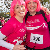 REPRO FREE<br /> Avril Duggan, Waterfall and Caroline Ellard, Crosshaven pictured at the 2019 Kinsale Pink Ribbon Walk in aid of the Irish Cancer Society Action Breast Cancer.<br /> Picture. John Allen