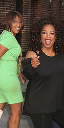 May 14, 2015 - New York, New York, U.S. - OPRAH WINFREY and GAYLE KING exit after her appearance on 'The Late Show with David Letterman' held at the Ed Sullivan Theater. (Credit Image: © Nancy Kaszerman/ZUMAPRESS.com)