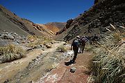 Scenery in the High Andes, inland from La Serena, and up the hill from Pisco Elqui, near the Chilean border with Argentina