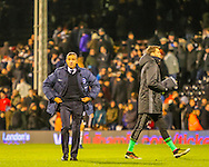 Chris Hughton of Brighton and Hove Albion during the Sky Bet Championship match at Craven Cottage, London<br /> Picture by Richard Brooks/Focus Images Ltd 07947656233<br /> 02/01/2017