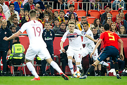 (L-R) Norway's Markus Henriksen, Norway's Martin Odegaard, Norway's Omar Elabdellaoui and Spain's Sergio Busquets during the qualifying match for Euro 2020 on 23th March, 2019 in Valencia, Spain. Photo by Alconada/AlterPhotos/ABACAPRESS.COM