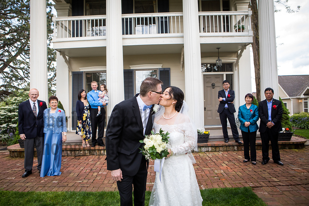 Lily Jiang and Mark Brasch get married at Ainsworth House and Gardens on May 6, 2018.