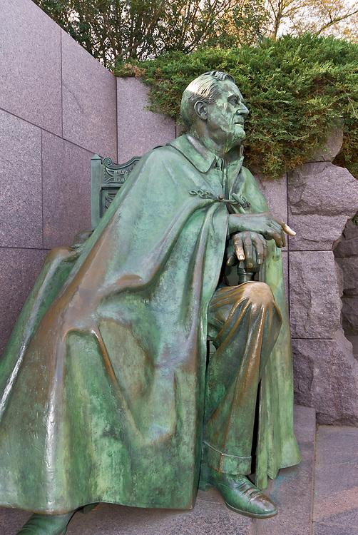 Statue of President Franklin D. Roosevelt at Roosevelt Memorial, Tidal Basin, Washington D.C., U.S.A.
