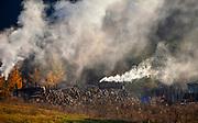 Wypalanie węgla drzewnego w Bieszczadach.