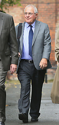 Retired police officer Donald Denton arrives at Warrington Magistrates' Court where he faces charges following an investigation into the Hillsborough disaster and its aftermath.