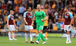 Burnley goalkeeper Joe Hart (centre) reacts after Wolverhampton Wanderers score their side's first goal of the game