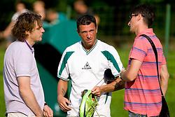 Safet Hadzic, Sebastjan Cimerotic and Simon Seslar of Olimpija during preseason friendly football match between NK Olimpija and SPINS selection, on June 30, 2009, in Menges, Slovenia. SPINS won 3:2.(Photo by Vid Ponikvar / Sportida)