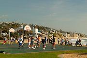 Basketball At Main Beach In Laguna Beach, California