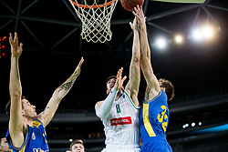 Aleksandar Lazic of Petrol Olimpija during basketball match between KK Petrol Olimpija and KK Hopsi Polzela in Round #2 of Liga NovaKBM 2018/19, on October 21, 2018, in Arena Stozice, Ljubljana, Slovenia. Photo by Vid Ponikvar / Sportida