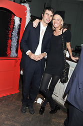 The HON.SOPHIA HESKETH and NICK PALMER at a carnival themed party hosted by Stacey Bendet for the Alice & Olivia fashion label at Paradise, Kensal Green, London on 9th November 2011