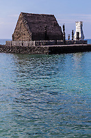 Ahuena Heiau is a religious site and also was the personal heiau of King Kamehemeha.  The heiau was dedicated to the god Lono. King Kamehameha worshipped at this site until his death in 1819.  The King used this heiau as his retreat to oversee the land and the ocean.