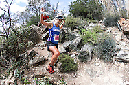 KPMG's Danette Smith descends a technical section of trail on Stage 3 of the Fairview Dryland Traverse, on the 6th of November 2016.<br /> <br /> <br /> Photo by: Oakpics/Fairview Dryland Traverse/SPORTZPICS<br /> <br /> <br /> {dem16gst}