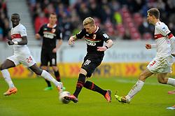 Foobtall: Germany, 1. Bundesliga, VfB Stuttgart - FC Augsburg, Stuttgart, 09.02.2014<br /> Andre Hahn (Augsburg)<br /> ©pixathlon