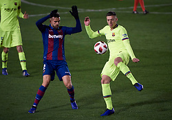 January 10, 2019 - Valencia, U.S. - VALENCIA, SPAIN - JANUARY 10: Borja Mayoral, forward of Levante UD and Clement Lenglet, defender of FC Barcelona looks during the Copa del Rey match between Levante UD and FC Barcelona at Ciutat de Valencia on January 10, 2019 in Valencia, Spain. (Photo by Carlos Sanchez Martinez/Icon Sportswire) (Credit Image: © Carlos Sanchez Martinez/Icon SMI via ZUMA Press)