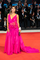 Serena Rossi walks the red carpet ahead of The Sisters Brothers screening during the 75th Venice Film Festival at Sala Grande on September 2, 2018 in Venice, Italy. Photo by Marco Piovanotto/ABACAPRESS.COM