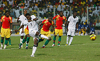 Photo: Steve Bond/Richard Lane Photography.<br />Ghana v Guinea. Africa Cup of Nations. 20/01/2008. Asamoah Gyan scores from the penalty spot