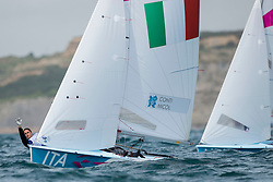 03.08.2012, Bucht von Weymouth, GBR, Olympia 2012, Segeln, im Bild Conti Giulia, Micol Giovanna, (ITA, 470 Women) // during Sailing, at the 2012 Summer Olympics at Bay of Weymouth, United Kingdom on 2012/08/03. EXPA Pictures © 2012, PhotoCredit: EXPA/ Juerg Kaufmann ***** ATTENTION for AUT, CRO, GER, FIN, NOR, NED, POL, SLO and SWE ONLY!