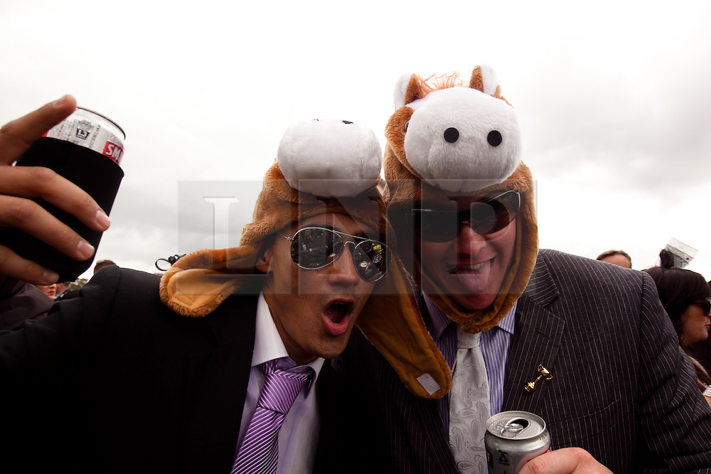 (c) under License to London News Pictures 02/11/2010. Racegoers at Melbourne cup 2010 keeping there heads warm with some interesting headwear