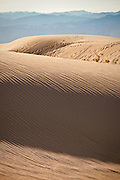 Pattern on the sand dunes at Stovepipe Wells in Death Valley National Park, California, USA.