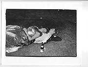Couple sleeping, Oriel May Ball. 26 June 1982.