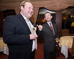GROOT BIJGAARDEN, BELGIUM - NOV-5-2008 - Executives and senior managers from Diebold Inc. and Dexia Bank enjoy cocktails and dinner at the De Bijgaarden restaurant in Groot Bijgaarden, Belgium, Wednesday, Nov. 5, 2008. (Photo © Jock Fistick)