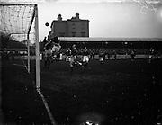 22/01/1956<br /> 01/22/1956<br /> 22 January 1956<br /> Soccer: Albert Rovers v Workmen's FC . FAI Intermediate Semi-Final, Bray.