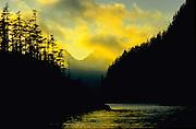 Sunset, Taz Basin, Kenai Fjords National Park, Alaska