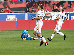 September 22, 2018 - Harrison, New Jersey, United States - Goalkeeper Alexander Bono (25) of Toronto FC saves during regular MLS game against New York Red Bulls at Red Bull Arena Red Bulls won 2 - 0 (Credit Image: © Lev Radin/Pacific Press via ZUMA Wire)