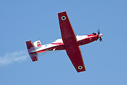 Israeli Air force (IAF) Flight Academy Beechcraft T-6A Texan II aerobatics team during a display